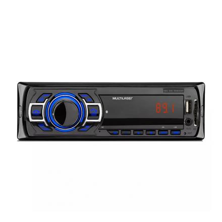 Som Automotivo New One Bluetooth Rádio FM Entradas USB P2 e