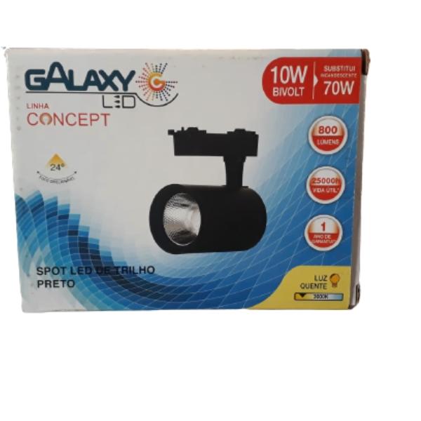 SPOT TRILHO 10W 3000K PT CONCEPT GALAXY