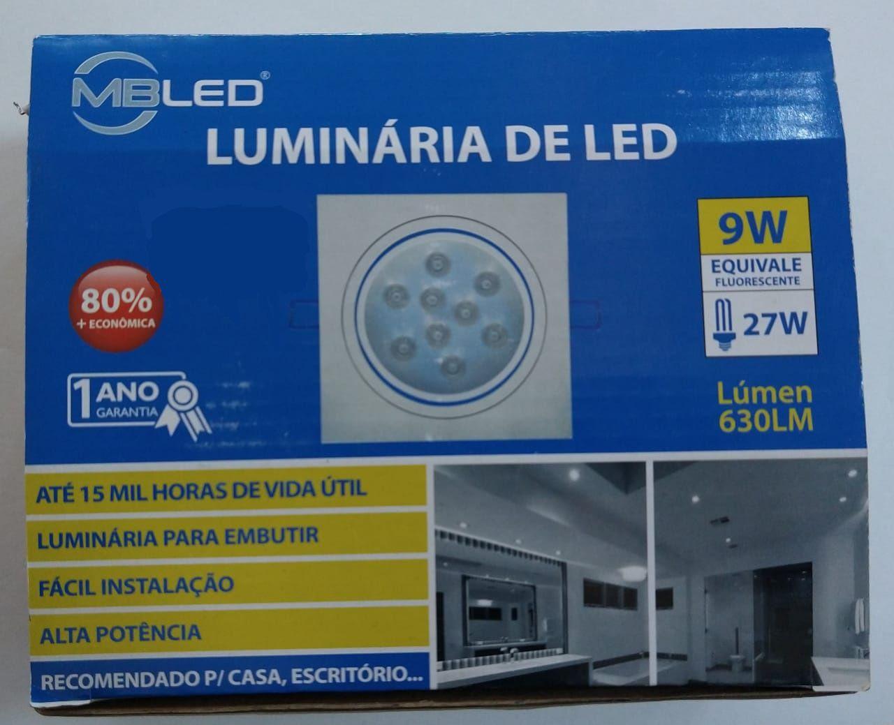 SPOT LED QDR. 9W 6500K