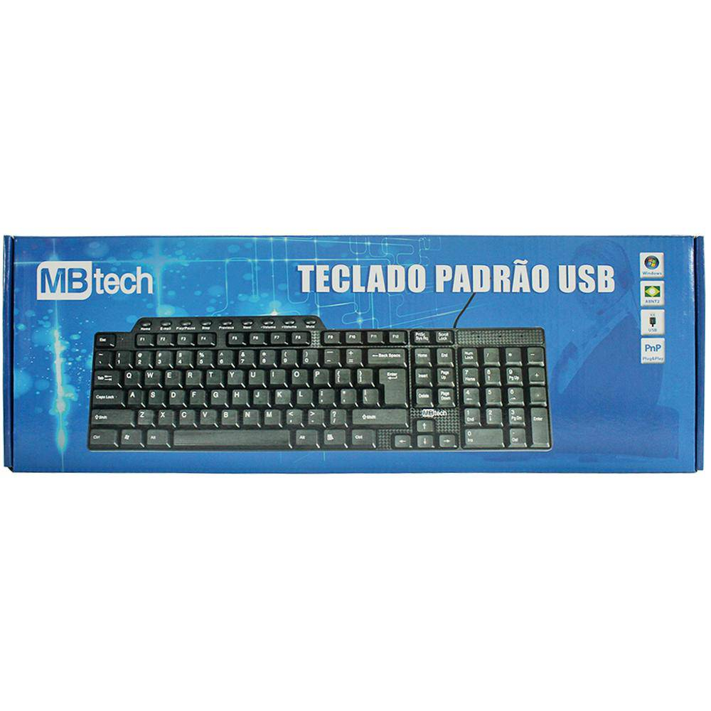 Teclado Multimidia Usb Mb-Tech Mb4113