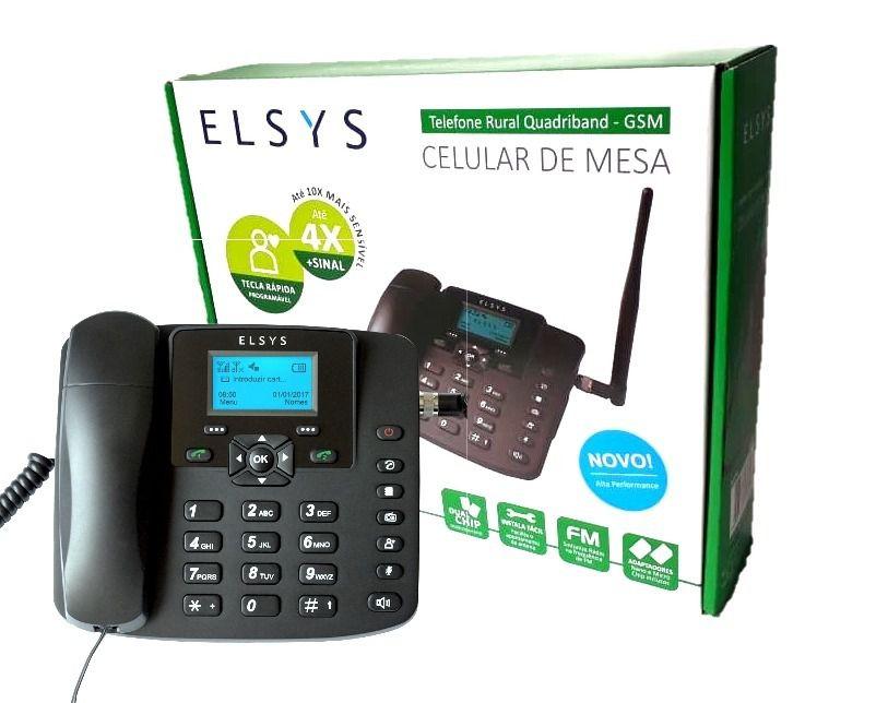 Telefone Celular De Mesa Gsm Epfs12 Preto Elsys