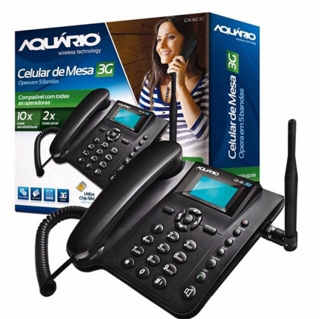Telefone Celular Rural De Mesa Quadriband 3g Ca403g Preto Aquario