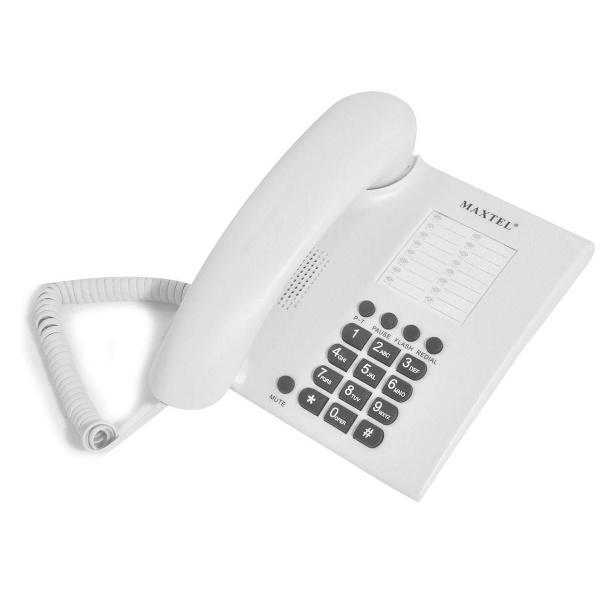 Telefone De Mesa Padrao Fixo Maxtel Mt-686