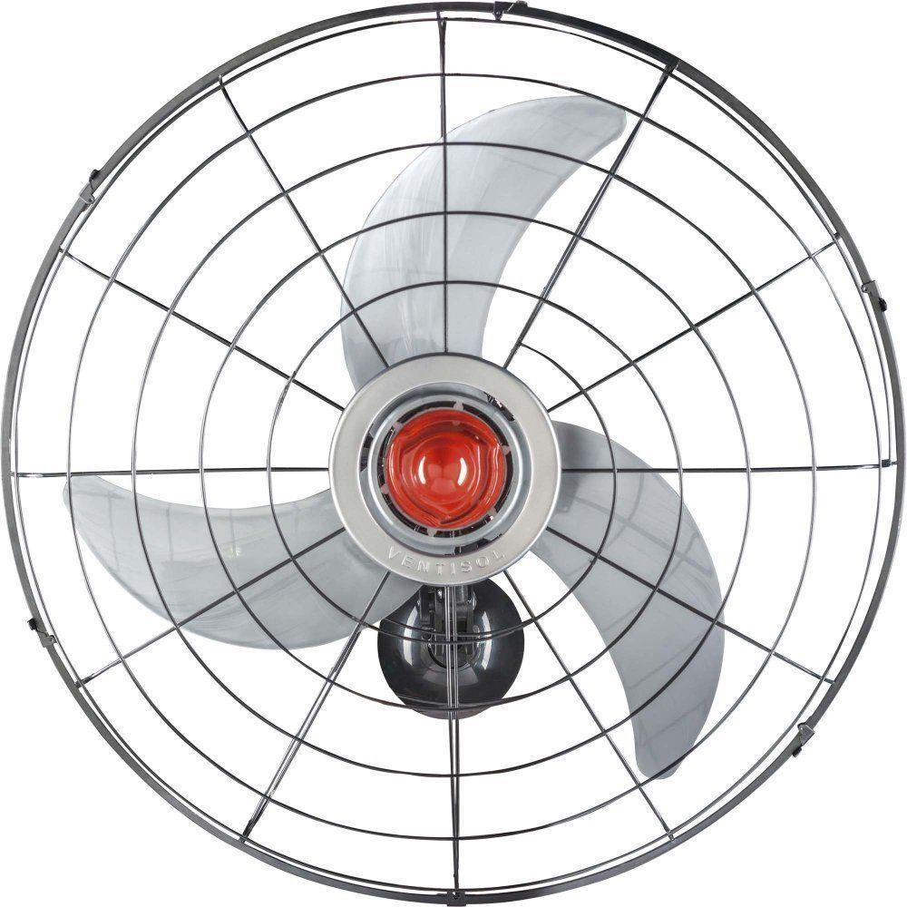 Ventilador de Parede Power 70cm Ventisol Preto e Prata - BIVOLT