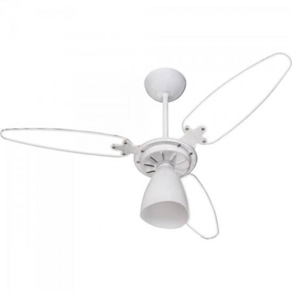 Ventilador de Teto Ventisol Wind Light Pás Transparentes Econômico - 110V