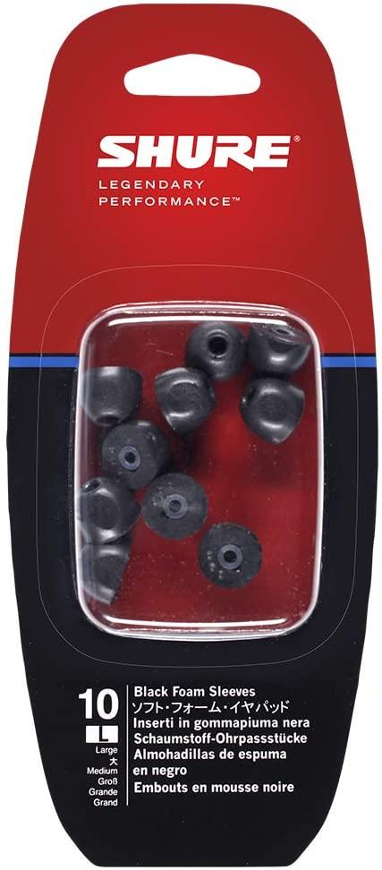 Acessório de Espuma Preta para EarPhones Shure EABKF1-10 Large