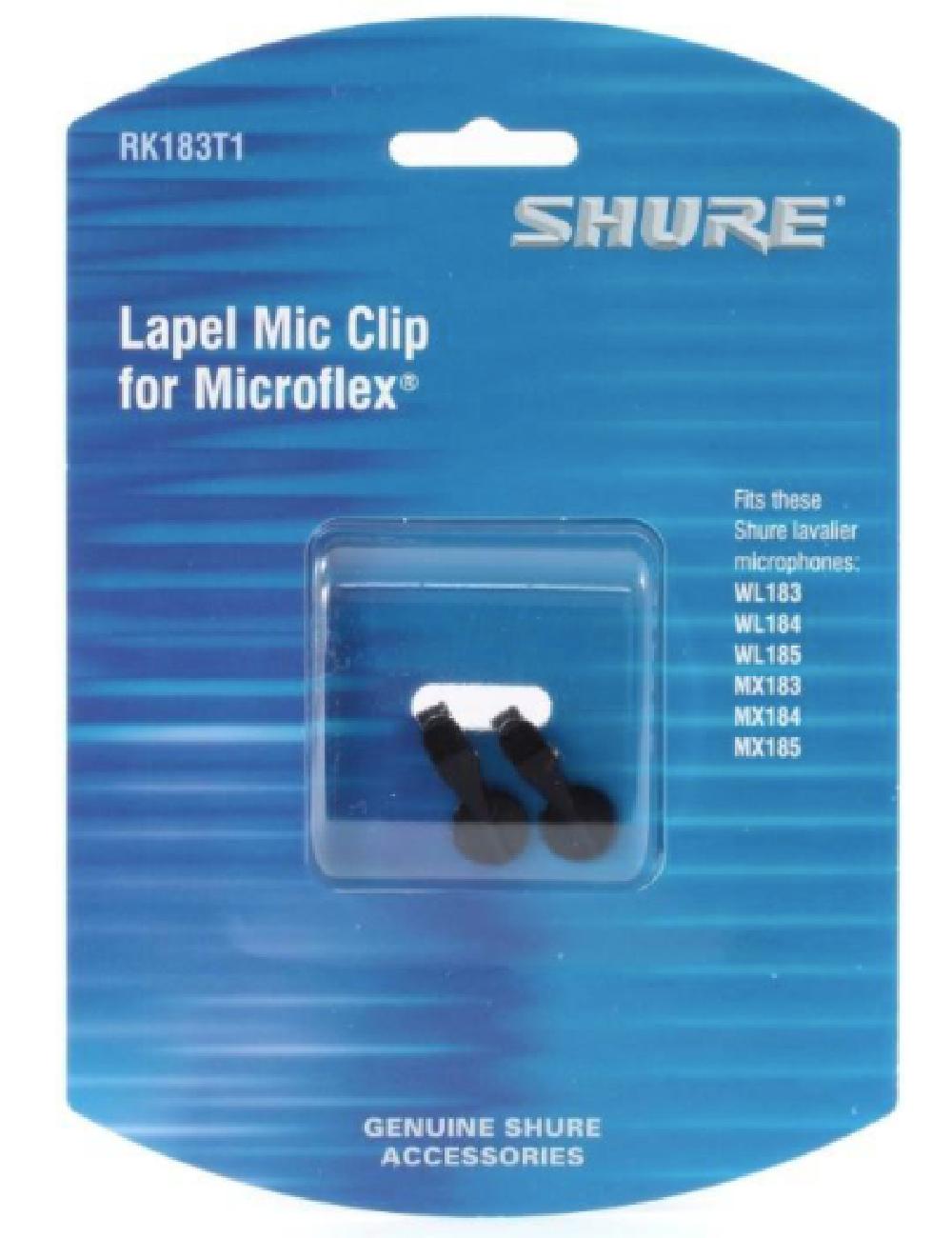 Presilha de Microfone para Gravata Shure RK183T1