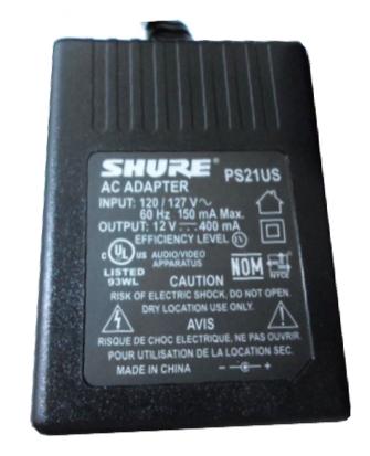 Fonte de Alimentação PS21-US - Shure