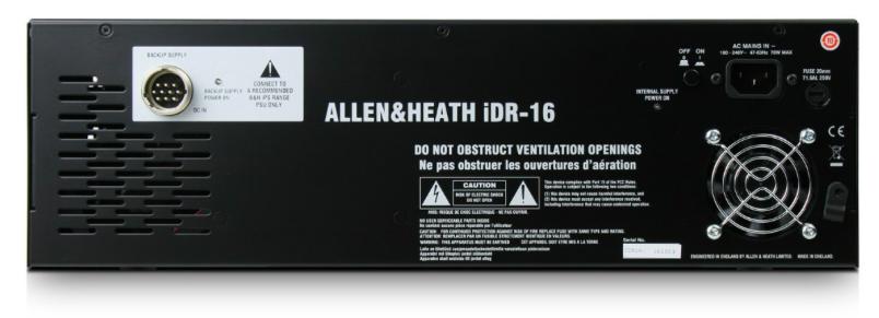 Mesa De Som Digital Rack IDR-16 ILive - Allen&Heath