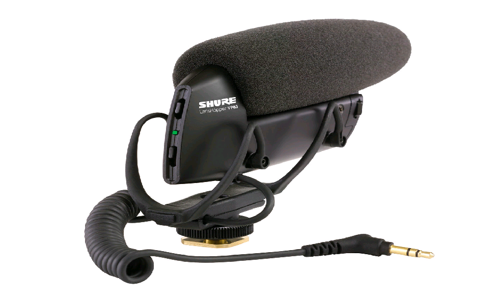 Microfone ShotGun para Câmeras Shure VP83