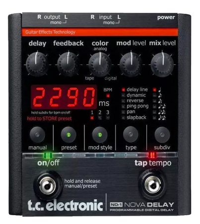 [Mostruário] Pedal Guitarra Nova Delay - TC Electronic