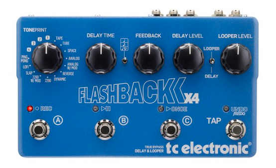 Pedal Guitarra Flashback X4 Delay - TC Electronic