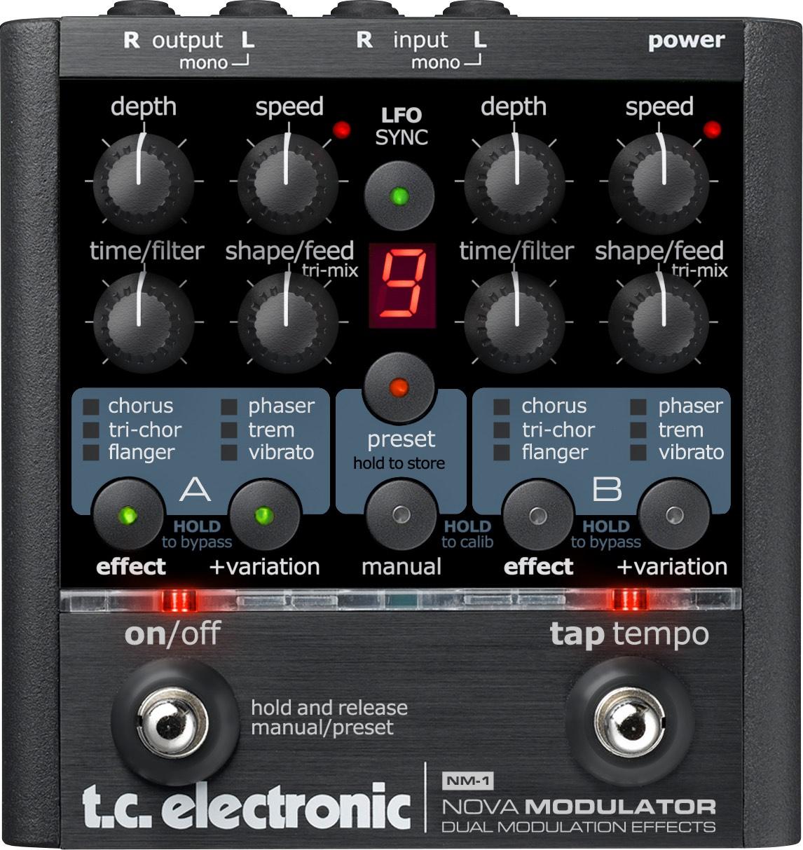 Pedal Guitarra Nova Modulator TC Electronic