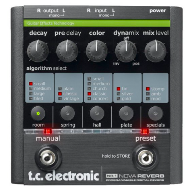 Pedal Guitarra Nova Reverb TC Electronic
