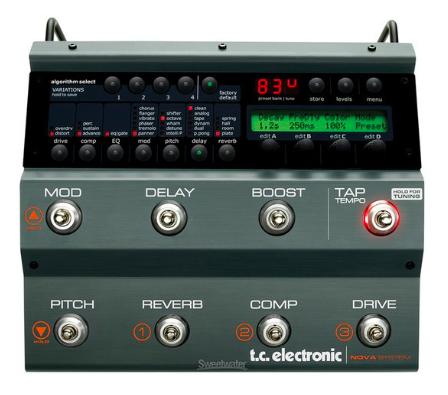 [Mostruário] Pedal Guitarra Nova System -TC Electronic