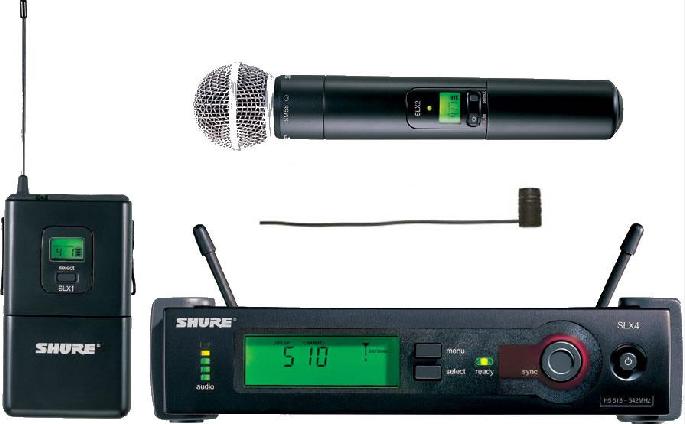 Transmissor Bastão com Receptor sem Fio - SLX24/SM58=-J3 SHURE