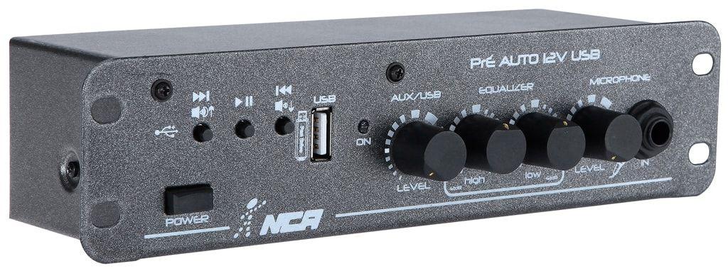 AMPLIFICADOR DE POTÊNCIA 12V 6W RMS 8R PRE AUTO USB