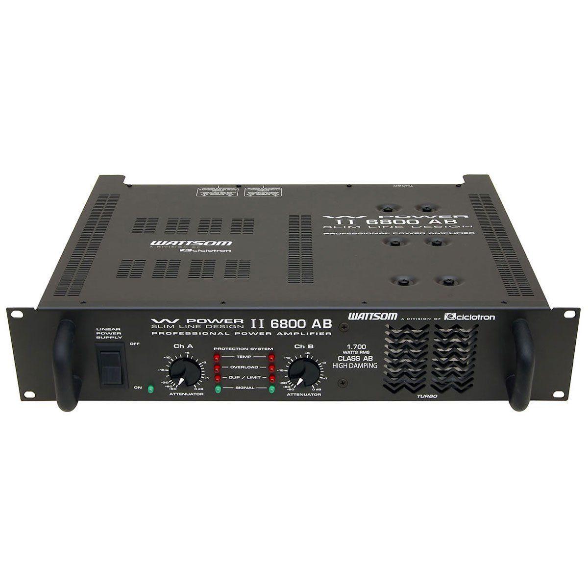 AMPLIFICADOR DE POTÊNCIA 1700W RMS WP2-6800AB CICLOTRON
