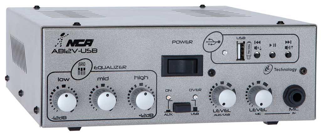 AMPLIFICADOR DE POTÊNCIA 50W RMS 2OHMS AB100 AB12V USB