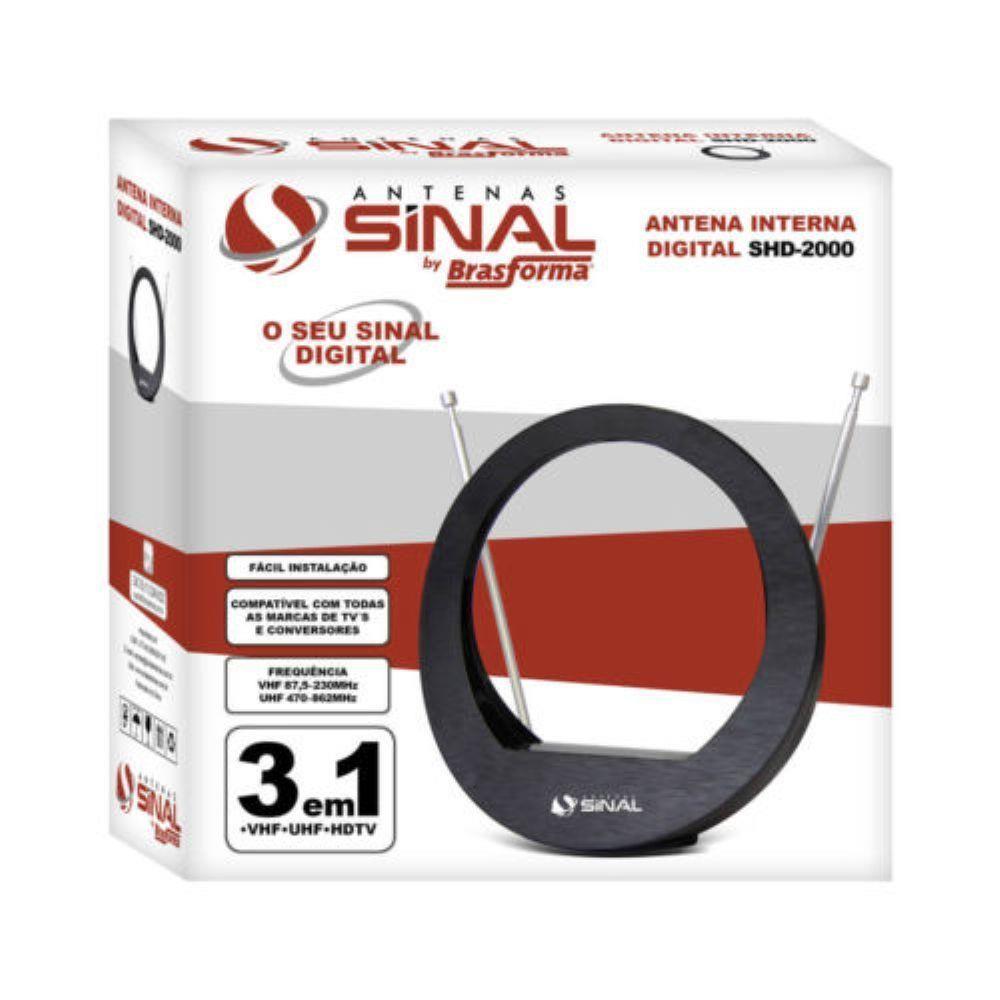 ANTENA INTERNA DIGITAL  HDTV SHD-2000 SINAL