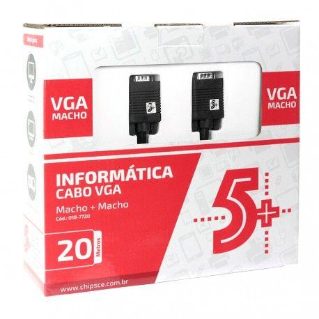 CABO VGA X VGA 20M C/FILTRO CAIXA