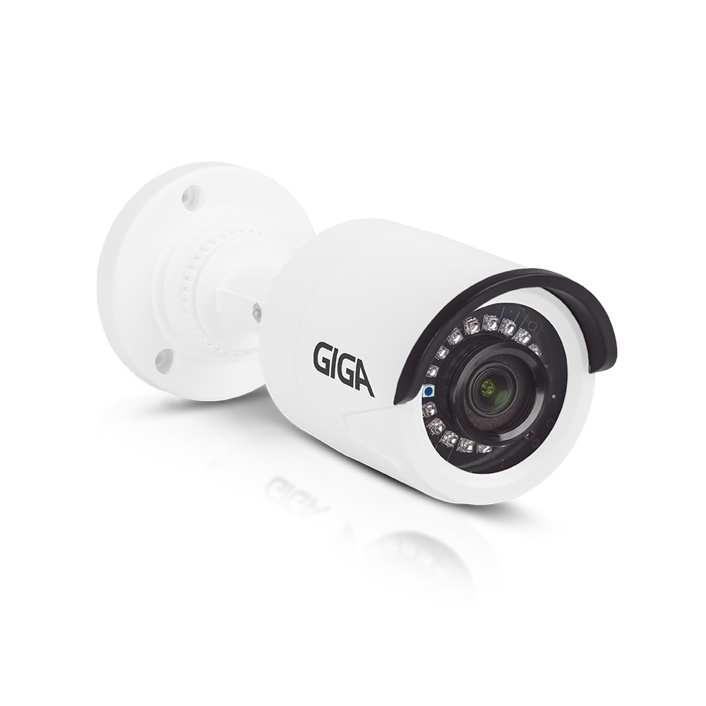 CAMERA BULLET PLASTICO OPEN HD 1080P IR 20M 3.6MM GS0271 GIGA SECURITY