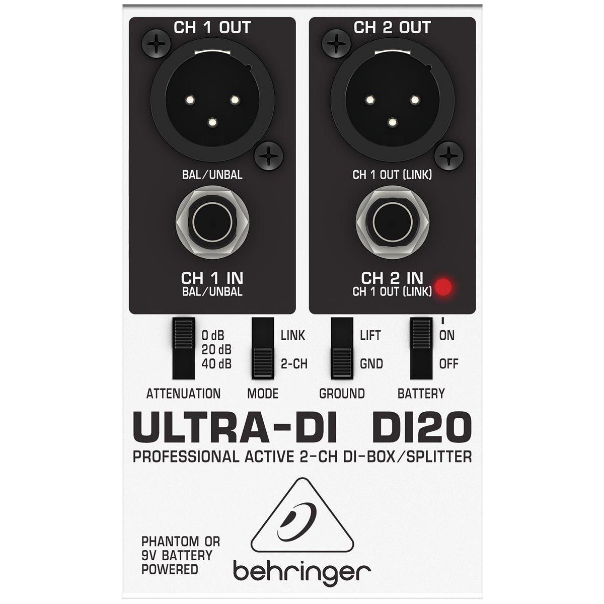 DIRECT BOX ATIVO ULTRA-DI20 BEHRINGER