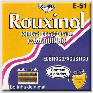ENC CAVAQUINHO ELET E ACUSTICO E51 NIG ROUXINOL