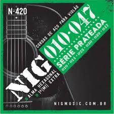 ENC VIOLAO ACO 6 CORDAS 010/047 N420 NIG