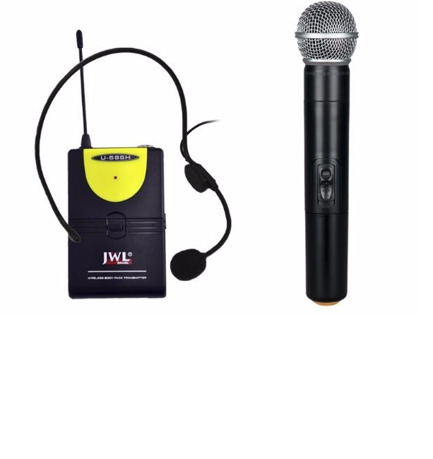 MICROFONE S/ FIO UHF HEADSET + MAO U585-H JWL