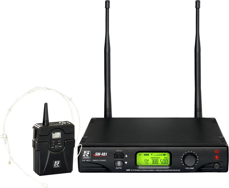 MICROFONE SINAL UHF SW481 HEADSET STANER