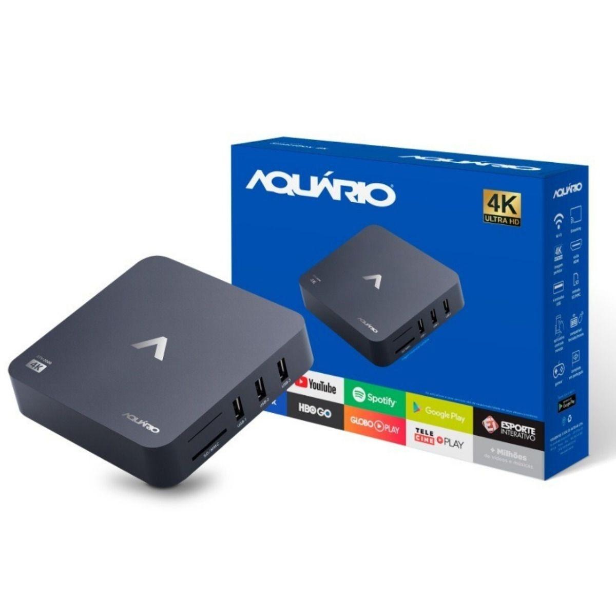 SMART TV BOX 4K AQUÁRIO