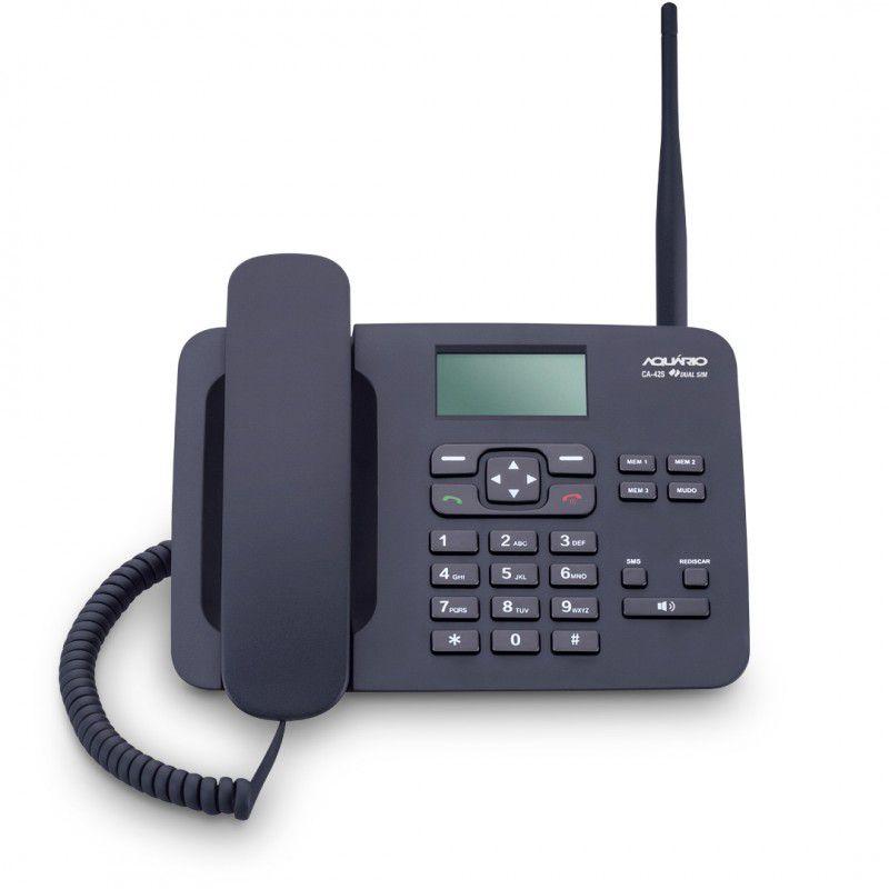 TELEFONE CELULAR DE MESA DUALCHIP MOD NOVO CA-42S AQUARIO