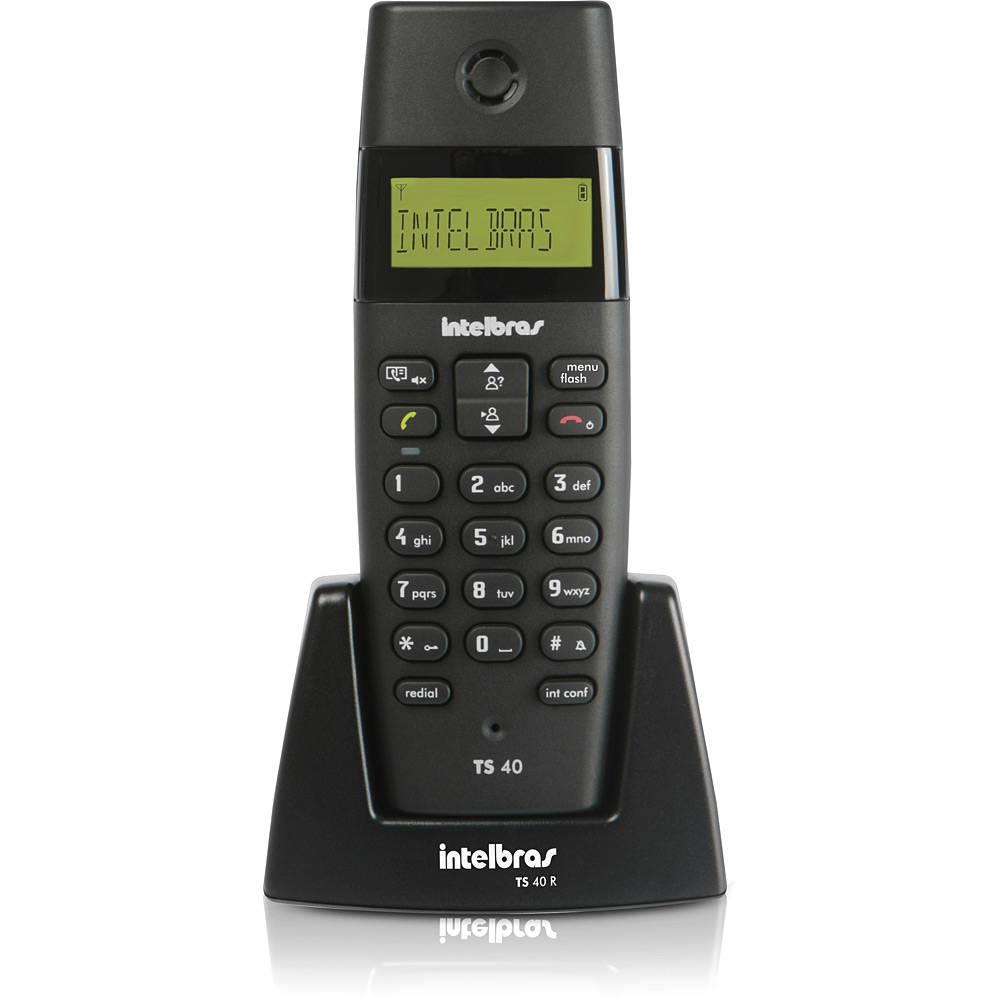 TELEFONE S/ FIO COM ID PRETO TS-40 ID