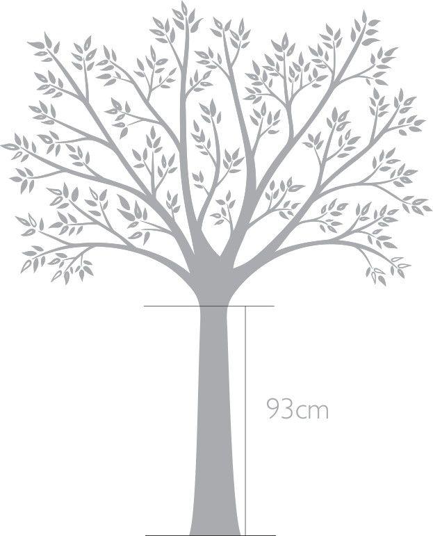 Adesivo de Parede Árvore Branca 42BB55