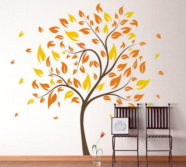 Adesivo de Parede Árvore Outono 339844