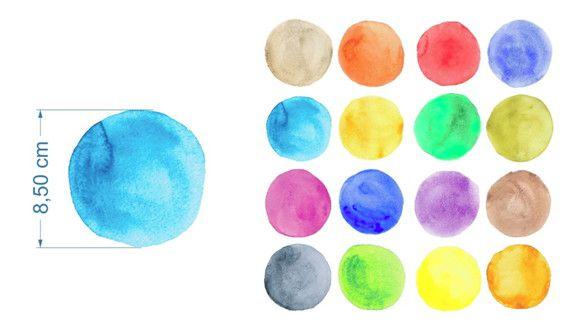 Adesivo de Parede Bolinhas Coloridas Aquarela 1238449