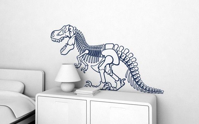 Adesivo de Parede Esqueleto Dinossauro Rex 32F224