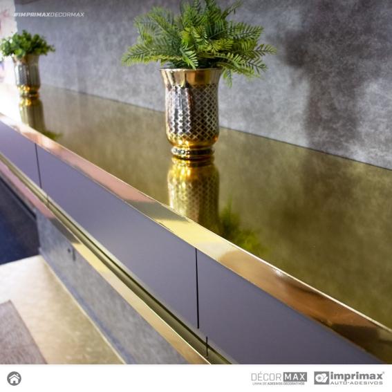 Adesivo Imprimax Gold Metallic Lisos Ouro, Prata, Preto, Bronze ou Rosê