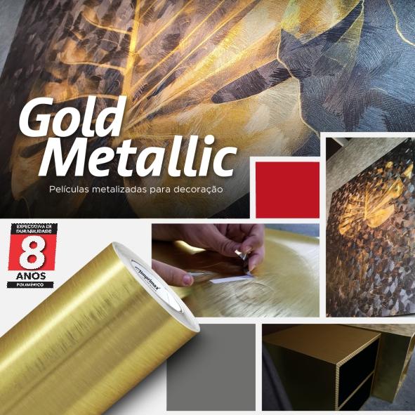 Adesivo Revestimento Metálico Gold Metallic