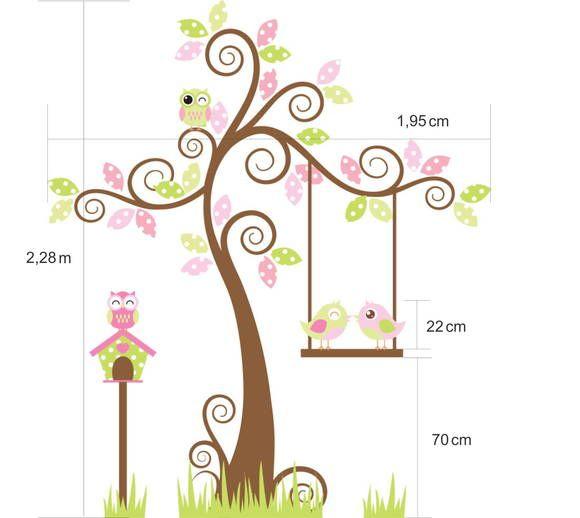 Adesivo de Parede Árvore com Balanço 3480AC
