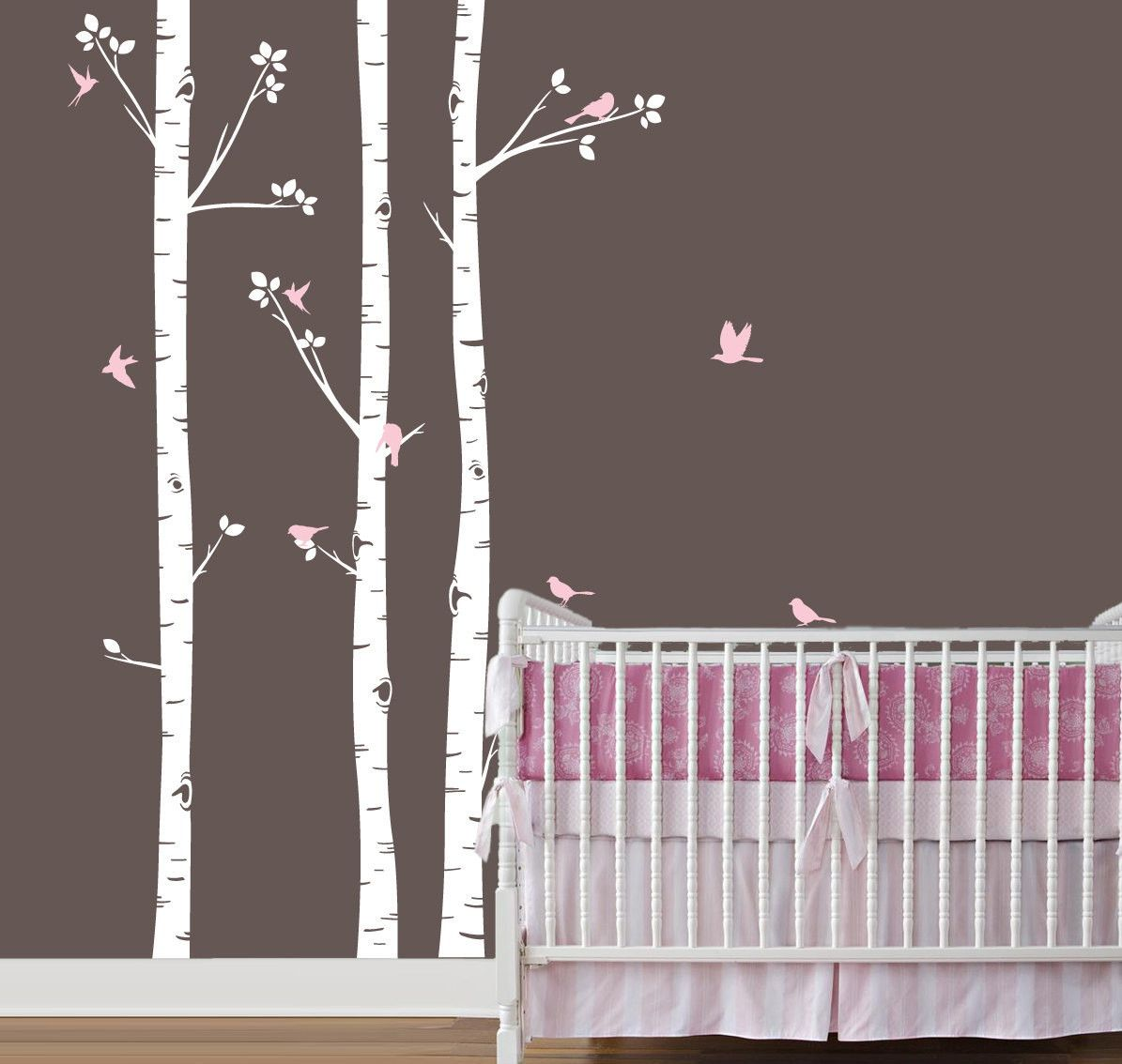 Adesivo de Parede Árvore com Pássaros 35D2E1