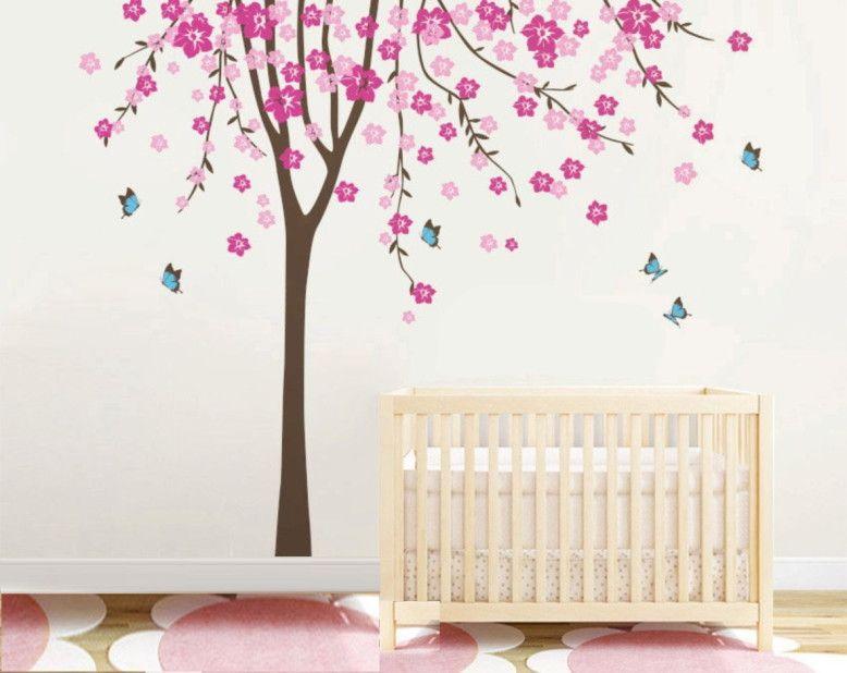 Adesivo de Parede Árvore com Borboletas 35F733