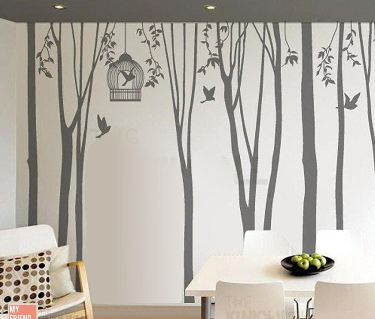 Adesivo de Parede Árvores com Pássaros 33871A