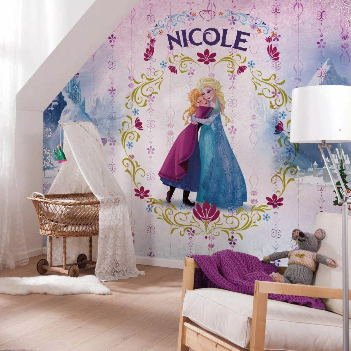 Mural de Parede Frozen com Nome da Criança F0D3DB