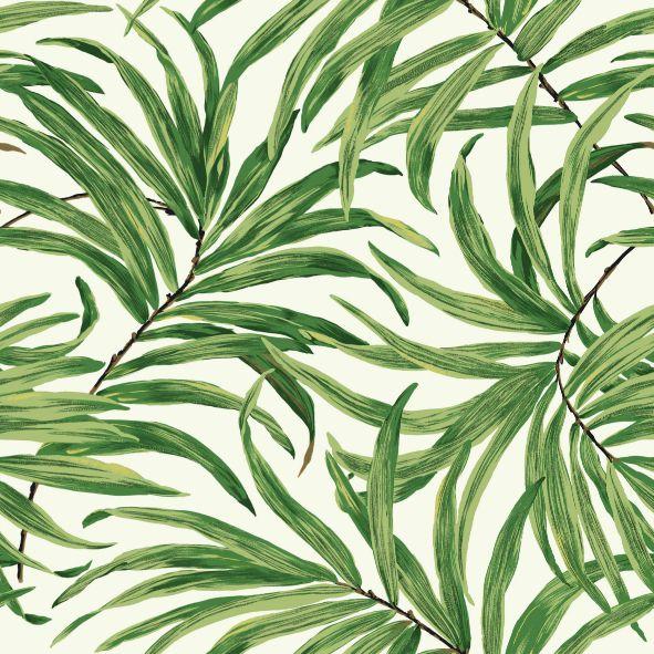 Papel de Parede Folhas Tropicais F0EA3E