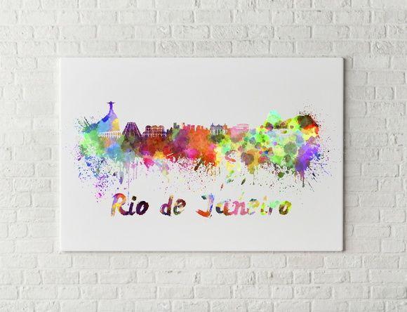 QUADRO DECORATIVO CIDADES RIO DE JANEIRO 6B1B4F