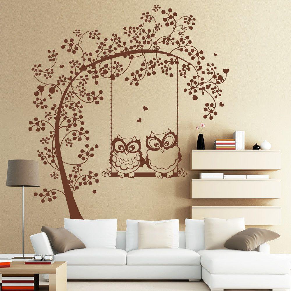 Adesivo de Parede Árvore com Corujas 336F0D