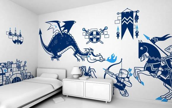 Kit Adesivos Cavaleiros e Dragão