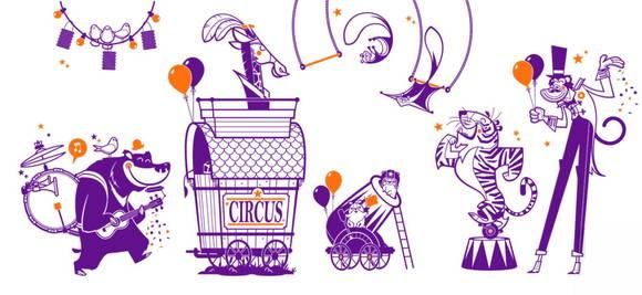 Kit Adesivos Circo